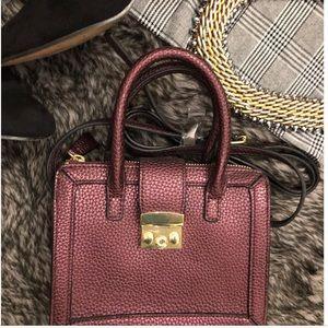 Purple mini purse